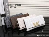 Wholesale Korean Women Casual Set - Famous Designer Women Wallets PU Mott Leather M K Jet Set Travel Saffiano Brand Lady Korse Fashion 3a3 MICHAEL Purse Hot sale