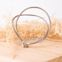 S925 Sterling Silver Buckle Moments Grey Fabric Hand Rope Fashion Jewelry Creazione di bracciali