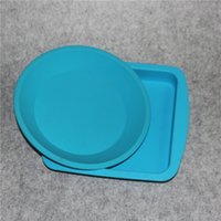 Wholesale Glass Food Covers - FDA Non-Stick Large Silicone Container Concentrate Oil BHO silicone tray heat resistant silicone tray Deep Dish Round Pan friendly