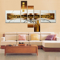 Wholesale Artwork Canvas 5pcs - Modern oil painting 5pcs set hand-painted decorative painting High fashion Abstract home decoration product living room artwork