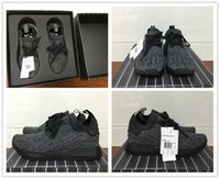 Wholesale R1 Carbon Fiber - With Real Carbon Fiber NMD R1 Primeknit Pitch Black S80489 Boost Running Shoes for 2016 New Men's Casual Shoes Size 36-45 Ship With box