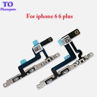 montagewinkel großhandel-Neue Hochwertige Lautstärkeregelung Mute Button Flex-Kabel mit Metallhalterungsbaugruppe Ersatz für iPhone 6 6 plus 6s plus