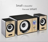 Wholesale Multimedia Bluetooth Speaker - Wholesale- High Quality Mini Computer Speaker 2.1 Multimedia Laptop Computer Mini Stereo Notebook Portable USB Subwoofer Support AUX Input