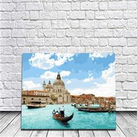 Wholesale Pearl Poster - Framed Adriatic Pearl DIY Painting By Numbers Drawing By Painting Kits Painting Hand Painted On Canvas For Home Wall Art Picture Poster