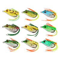 Wholesale Frog Baits - Goture 18Pcs 9Pcs Frog Fishing Lure 5.5Cm 12.1G Topwater Wobble Artificial Bait Soft Lure For Bass Snakehead Fishing