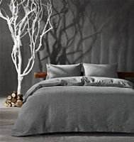 Wholesale Solid Color Quilted Bedding King - Unique Design Hotsale Simple Style Solid Color Cotton and Linen Bedding set Queen King Size Duvet Cover Set