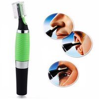 Wholesale Electric Hair Cutter Clipper - Hot Sale nose hair trimmer ear beard clipper shaver mens electric t removal machine face Cleaning hair cutter tools Gift for men