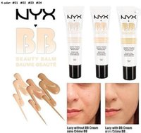 Wholesale Skin Cover Bb Cream - Newest NYX Perfect Cover BB Cream 30ml Cosmetic Concealer Whitening Isolation Skin Care Natural Naked Makeup Concealer Soft Skin 4 Colors