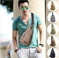 Bolsa de lona Homem Bagagem militar Casual Travel Chest Bag Crossbody Back Pack Men's Shoulder Bag KKA2326