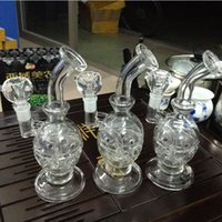 Wholesale Blown Glass Egg - Feb Egg Glass Newest Bong 9.5 inches Water Pipe Ash Catcher Recycler Glass Faberge Egg Hand Blown 14.4mm Joint Glass Bowl
