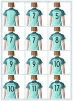Wholesale European Women S Shirt - Fast Women's 2016 European Cup Portugal #7 Flgo #7 Ronaldo #17 NanI #10 Danny #9 PAULETA Soccer Jersey Light Green Blue Away Jerseys Shirt