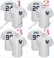 Wholesale Cheap Yankees Jersey - new york yankees #24 gary sanchez #26 tyler austin #99 aaron judge 2016 MLB Baseball Jersey Cheap Rugby Jerseys Authentic