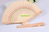 Wholesale Cheap Wood Carvings - Hot 200pcs cheap chinese carved folding fragrance wood hand fans Home Décor Free Shipping DHL Fedex UPS