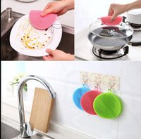 Kitchen Silicone Dish Scrubber Brush Pad Pote Pan Espremedor de louças Útil Magic Silicone Dish Bowl Cleaning Brushes KKA3186