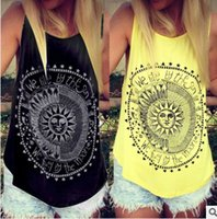 Wholesale Graphic Tees Tanks - Women Tank Tops Summer 2016 We Live By The Sun Printed Punk Rock Graphic Tees Sleeveless Causal Tops