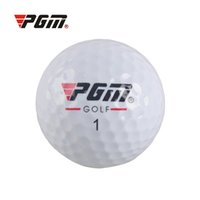 Wholesale Games Male - Original PGM Golf Game Training Match Competition Rubber Ball Three Layers High Grade Golf Ball White 2513008