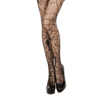 Wholesale Skeleton Pantyhose - 100pcs Spider and Skeleton Printed Tights for Women Pantyhose Fishnet Sexy Stockings for Party Halloween RF0156 RF0157