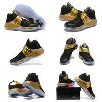 Wholesale Final Gold - 2016 Men Kyrie 2 Navy Gold Finals PE Basketball Shoes Sports Sneakers Free Shipping Drop Shipping