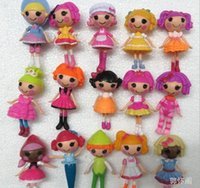Wholesale Dolls For Girls Pvc - 16pcs lot New 8cm MGA mini Lalaloopsy Doll the bulk button eyes toys for girl classic toys Brinquedos