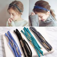 Wholesale Headband Simple - 2017 new Korean metal radian interval multi-layer cross hair band, Korean simple push pressure hair accessories