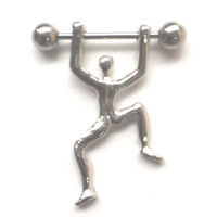 pezones encantos al por mayor-D0167 (1 color) anillo del pezón del estilo de la gente La joyería Piercing del cuerpo del botón del vientre cuelga el encanto de la manera de los accesorios (10pcs / lot) JFB-6160