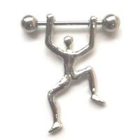 ingrosso fascini dei capezzoli-D0167 (1 colore) persone stile anello capezzolo Belly Button Body Piercing gioielli Ciondola Accessori Moda Fascino (10 pz / lotto) JFB-6160