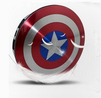 Wholesale Iwo Power Bank - Drop Shippig Good Quality Avengers Captain America Shield Power Bank Charger USB 6800mAh For All Cellphone With Package Free Shipping