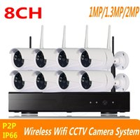 Wholesale 8ch System Cctv Ir - 8CH CCTV System 720P 960P 1080P Wireless NVR kit outdoor indoor IR Night Vision P2P wifi IP Camera Security System Surveillance ann