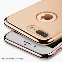 Wholesale Gold Plated Phone Housing - New 3in1 Phone Case For Apple iPhone 7   7 Plus Fashion Plating Matte Back Cover Coque Housing For iPhone7 Plus Capa