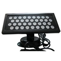 Wholesale Outdoor Led Dmx - 36W LED RGB Floodlight Wash Lights Waterproof DMX 512 Stage Light LED Floodlight Led Wall Washer Lights Background Lamp Flood Light DHL