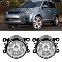 Wholesale H8 12v 55w - Car-Styling For Mitsubishi Outlander 2006-2012 9-Pieces Led Fog Lights H11 H8 12V 55W Fog Head Lamp