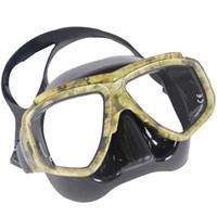 близорукие плавательные очки оптовых-Wholesale- KEEP DIVING Professional Disguise Camouflage Scuba Dive Mask Snorkeling Gear Spearfishing Swim Goggles Myopic Optical Lens