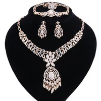Wholesale bridesmaid jewelry sets color resale online - Jewelry Sets For Bridesmaid African Jewelry Set Gold Color Women Jewellery Sets Nigerian Beads Necklace Jewelry Set