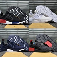 Wholesale Mens Ski Boots 12 - 2018 NMD Runner R2 Running Shoes Lightweight Surface Breathable XR3 BOOST NMD_R1 Sneakers Womens Mens Youth 12 colors size 36-45