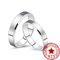 Wholesale Solid Silver 925 Man Rings - New! Solid 925 Sterling Silver Couple Rings for Women Men Wedding Engagement Rings Band new ring jewelry N21