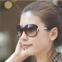 Wholesale Lunettes Cat Eyes - 2016 NEW Luxury Brand Women Polarized Sunglasses Lunettes de soleil Jujube red+Gold Frame Fashion Design glasses Crystal with flowers