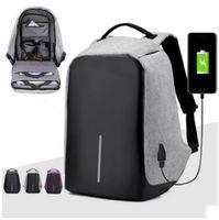 Wholesale Ports Child - Anti-theft Laptop Notebook Backpack With USB Charging Port Nylon big children women men Shoulder bag Business Backpacks 4 colors C2910