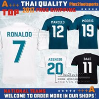 Wholesale Jersey Ronaldo - 2017 Real Madrid home Away soccer jersey 17 18 Real Madrid RONALDO BENZEMA BALE SERGIO RAMOS MORATA ISCO NAVAS ASENSIO Jerseys