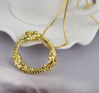 joyería del dragón de las mujeres al por mayor-Envío gratis The anciano se desplaza 5 dragón collar de oro y plata plateó el dragón colgante collares para mujeres joyería # 3026