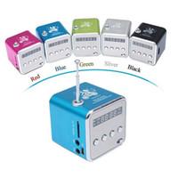 Wholesale Micro Sd Card Reader Speaker - TD-V26 Mini Speaker Portable Digital LCD Sound Micro SD TF FM Radio Speaker Music Stereo Loudspeaker