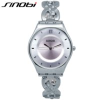 Wholesale Sinobi Watches Quality - SINOBI Women Watches Waterproof Relogios Feminino Fashion High Quality Pink Ladies Watch Bracelet Quartz Female Wristwatch