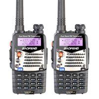 presunto venda por atacado-Atacado-2 PCS Novo Walkie Talkie Baofeng UV-5RA Para Scanner de Rádio VHF UHF Dual Band Rádio Ham Transceiver Headset Livre