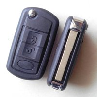 Wholesale Range Rover Sport Remote Key - Flip car key shell case for lan cove sport 3 button folding remote key blank key cover free shipping