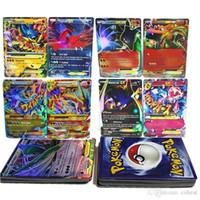 Wholesale Pokemon Gift Set - Poke Flash cards 60pcs lot EX Card No Repeat (include 12pcs MEGA Card) Charizard Venusaur Blastoise For children Gifts English Cards