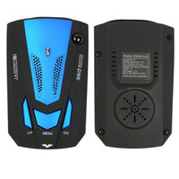 Wholesale Speed Car Detector - Wholesale-New Arrival Blue Russian English V7 Speed Radar Car detector 360 Degree Detection Voice Electric Dog For Car Speed Limited