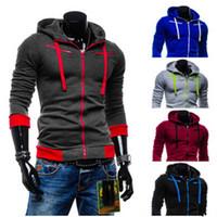 Wholesale 4xl Zip Up Hoodie - Wholesale-Oversize Men's Jackets Zip Up Hooded Sweatshirts Fleeces Inside Casual Sweatshirt Man Hoodies Coat Outerwear Plus Size HO8176