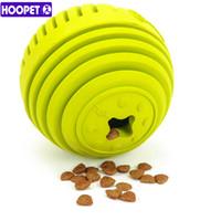 Wholesale multi pet toys online - Hoopet New Resistance To Bite Dog Toys Molar Teddy Golden Retriever Dog Puzzle Pet Rubber Ball