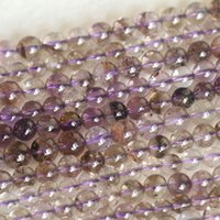 """Wholesale Super Seven Stone - Wholesale Genuine Natural Purple Super Seven Super 7 Round Loose Small Beads Melody Stone Fit Jewelry Necklace Bracelets 16"""" 04160"""