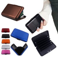 Wholesale mini card suitcase resale online - Aluminum Card Pack Business Cards Bags Aluminum Women Men Anti Magnetic Packs Bank ID Holders Card Metal Mini Fashion Suitcase