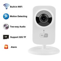 Wholesale Wifi Ip Camera Free Shipping - V380 Mini Wifi IP Camera Wireless 720P HD P2P Smart Camera Fashion Baby Monitor free shipping